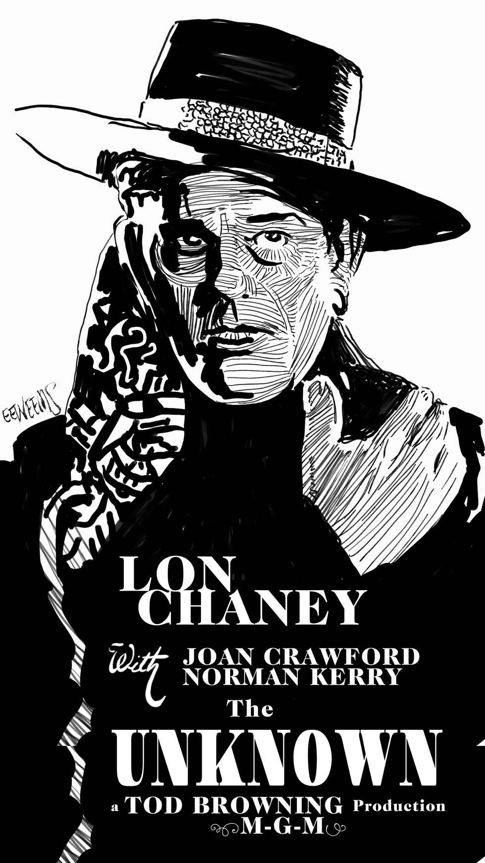 Lon Chaney the Unknown 1927 Poster Art