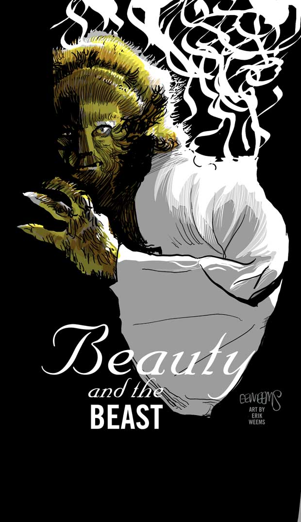 Beauty and the Beast Poster Image by Erik Weems
